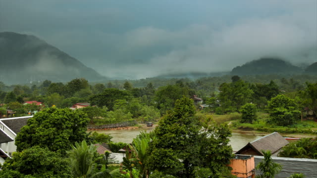 View nature at Vang Vieng in Laos Time lapse.