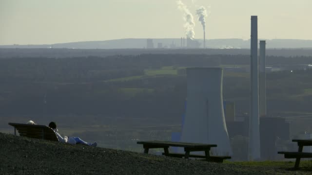 view near ensdorf to ensdorf coal power plant, saarland, germany, europe - coal fired power station stock videos and b-roll footage
