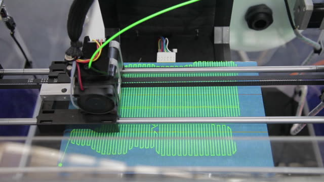 cu view of 3d printer / xi'an, shaanxi, china - 3d printing stock videos and b-roll footage