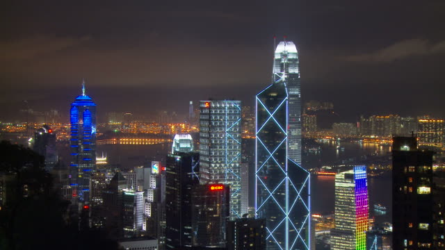 view of a bank of china tower hong kong, china - bank of china tower hong kong bildbanksvideor och videomaterial från bakom kulisserna