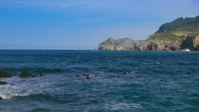 View of a beach in Bentalde at San Juan De Gaztelugatxe.