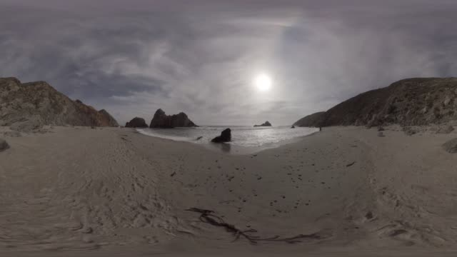 360/VR view of a beach on the Pacific Coast Highway