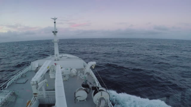 POV view of a boat in the ocean