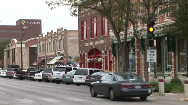 vídeos de stock e filmes b-roll de view of a boulevard in rapid city south dakota united states - rapid city