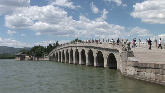 View of a bridge in Summer Palace Beijing China