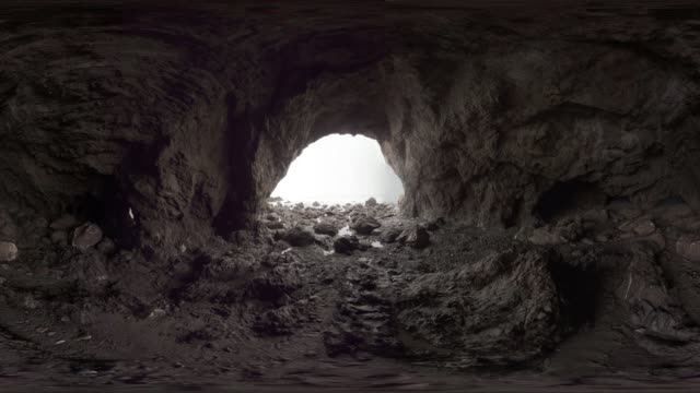 vr view of a cave at malibu beach - malibu beach stock videos & royalty-free footage