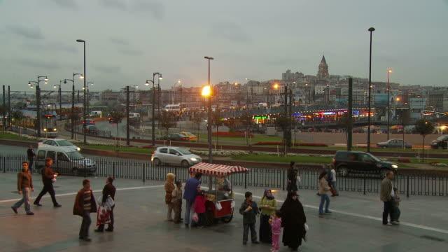 view of a city in istanbul, turkey - galataturm stock-videos und b-roll-filmmaterial