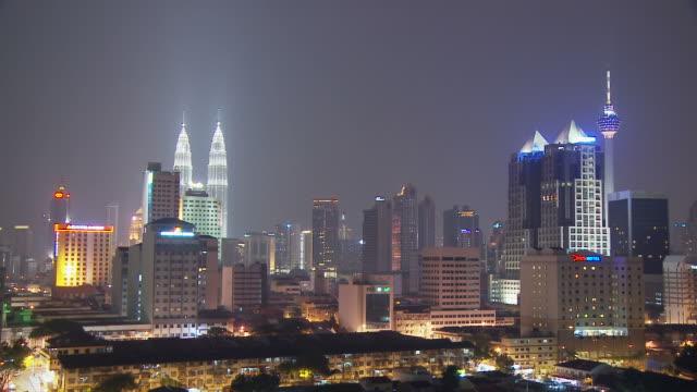 view of a city in kuala lumpur, malaysia - menara kuala lumpur tower stock videos & royalty-free footage