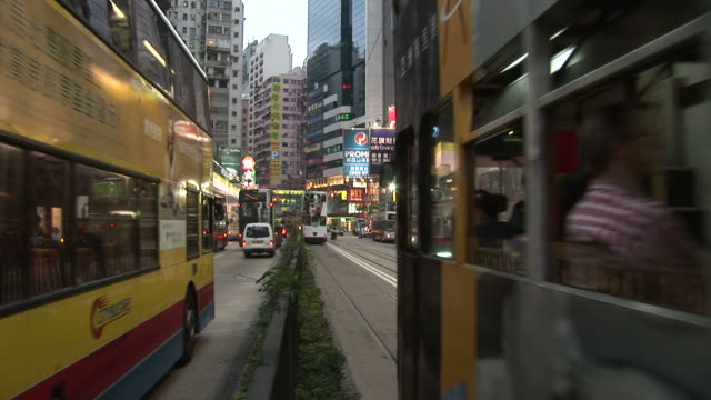 view of a city street in hong kong china - median nerve stock videos & royalty-free footage
