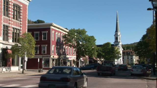 View of a City Street in Montpelier Vermont United States