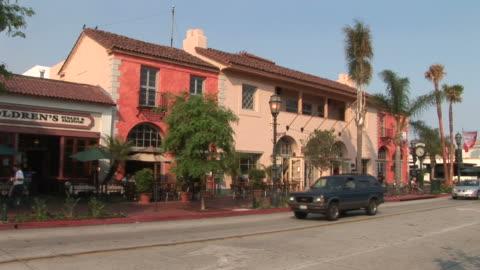 view of a city street in santa barbara united states - santa barbara california stock videos & royalty-free footage