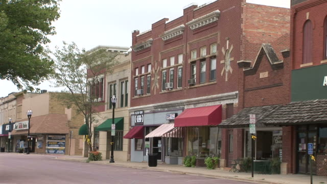 view of a city street in south dakota united states - south dakota stock videos and b-roll footage