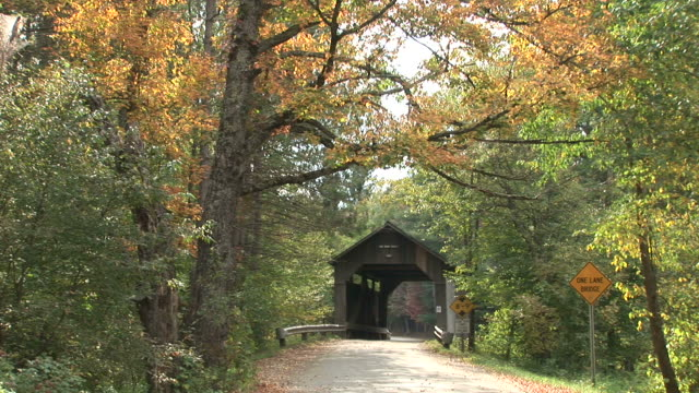 View of a covered bridge in Vermont United States