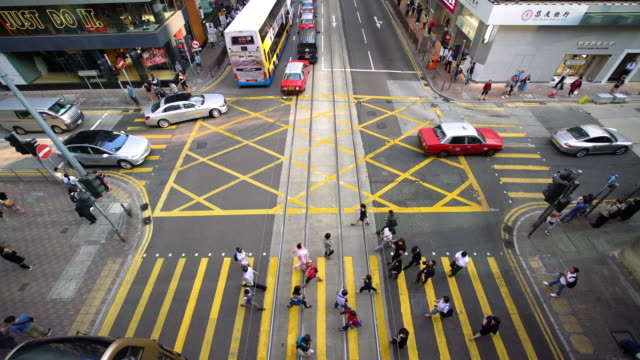 WS HA vista de un cruce de caminos en Hong Kong / Hong Kong, China