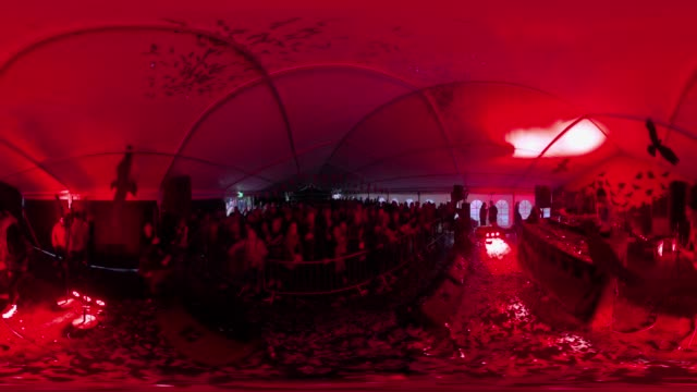 VR view of a dance tent at a music festival