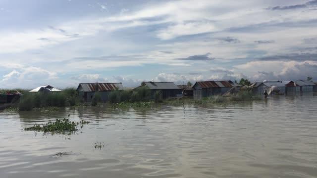 vídeos y material grabado en eventos de stock de view of a flood affected village in gaibandha bangladesh august 19 2017 - bangladesh