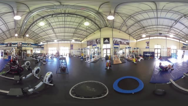 vr view of a gym in durban south africa - durban stock videos & royalty-free footage