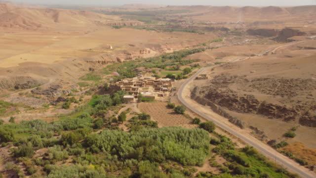 vídeos de stock, filmes e b-roll de view of a houses and road in north morocco, africa - arcaico