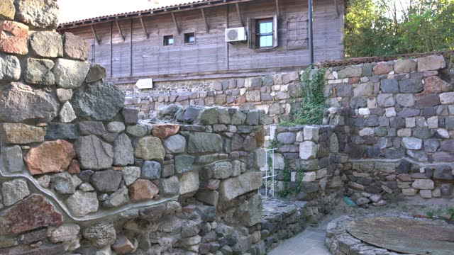view of a medieval christian complex in the old town of sozopol, bulgaria - pavel gospodinov stock videos & royalty-free footage