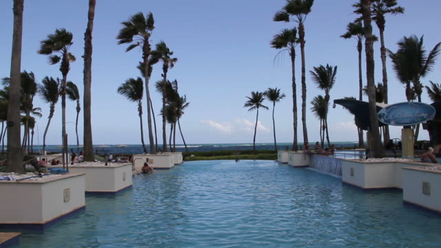 View of a pool in a hotel in San Juan