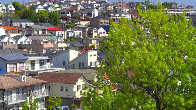 春の住宅街の眺め - 神奈川県点の映像素材/bロール