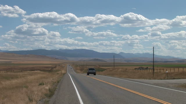 View of a road in Montana United States