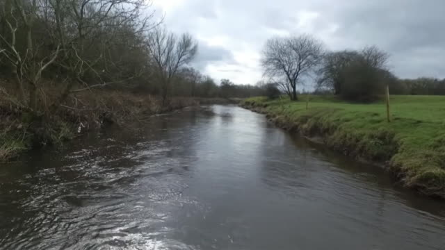 view of a rural stretch of the river mersey - river stock videos & royalty-free footage