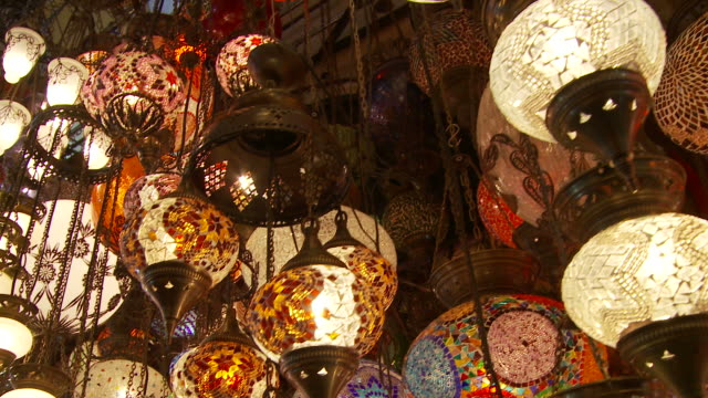 view of a shop in grand bazaaar istanbul, turkey - grand bazaar istanbul stock videos & royalty-free footage