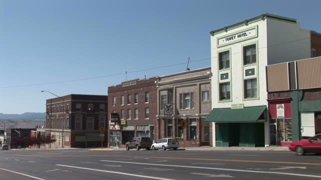 view of a small town in butte united states - butte montana stock videos & royalty-free footage