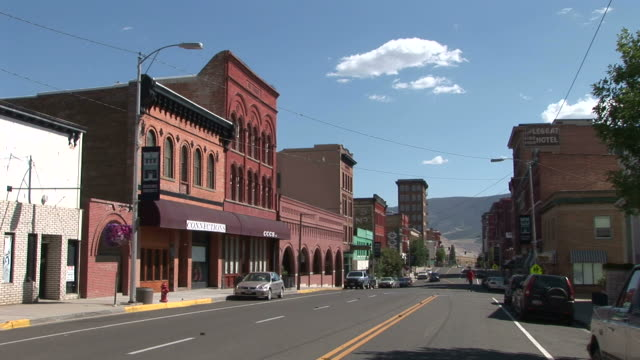 view of a small town in butte united states - small town stock videos & royalty-free footage