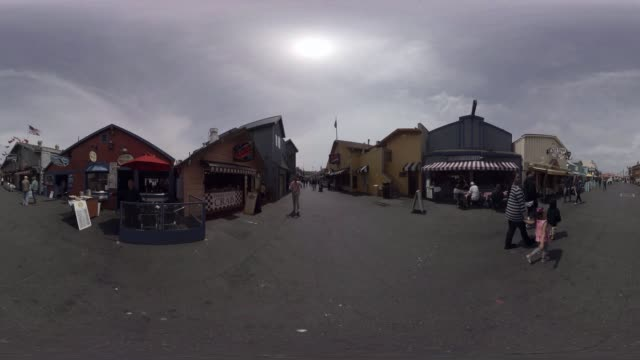360/VR view of a small town on the Pacific Coast Highway