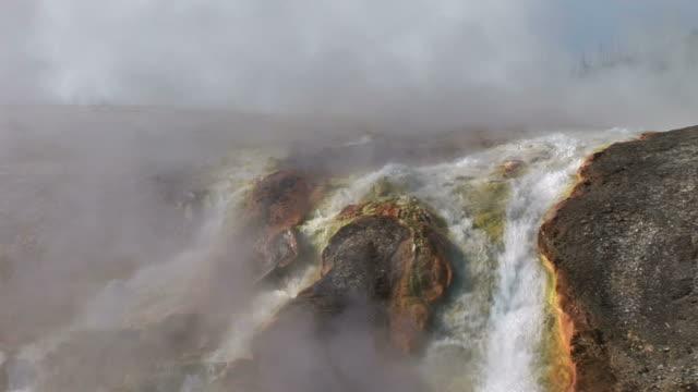 vídeos y material grabado en eventos de stock de view of a stream in yellowstone national park in united states - usa