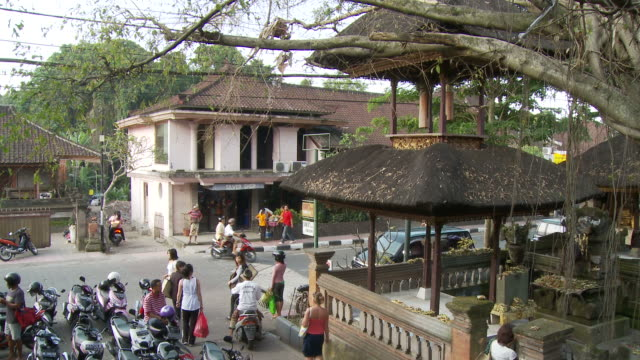view of a street in bali, indonesia - ubud district stock videos & royalty-free footage