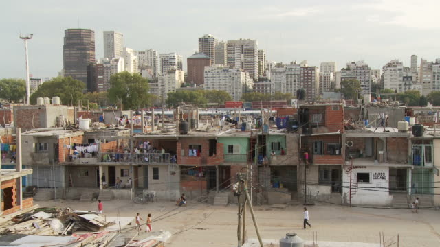 view of a street in buenos aires, argentina - slum stock videos & royalty-free footage