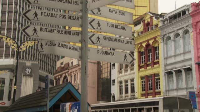view of a street in kuala lumpur, malaysia - kuala lumpur stock videos & royalty-free footage
