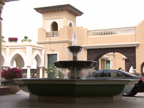 view of a three tiered fountain. - fountain stock videos & royalty-free footage