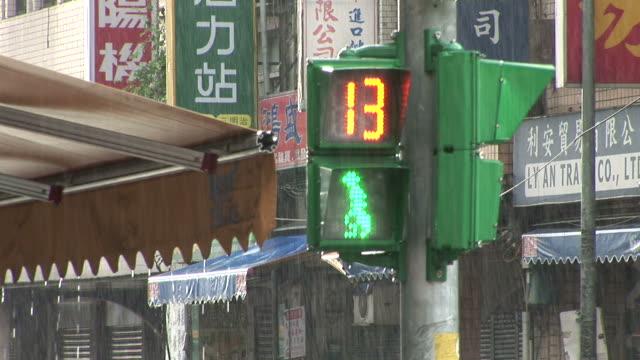 view of a traffic signal in taipei taiwan - taipei stock videos & royalty-free footage
