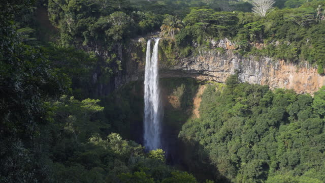View of a tropical waterfall