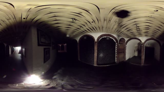 VR view of a wine cellar