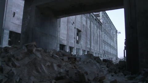 ms pan view of abandoned factory / berlin, germany - abandoned stock videos & royalty-free footage