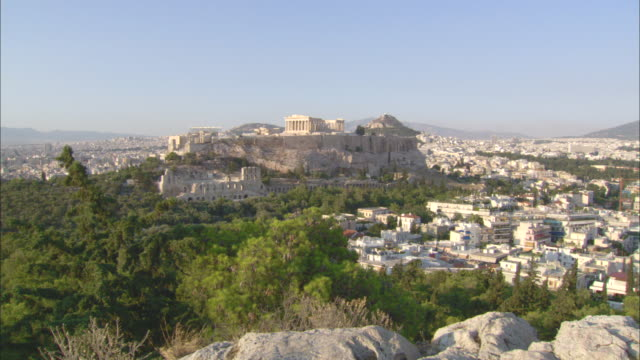 ws view of acropolis of athens / athens, attica, greece - athens greece stock videos & royalty-free footage