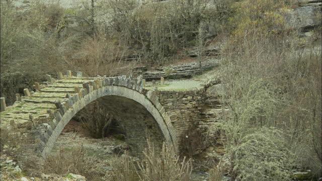 ws view of agios minas bridge / dilofon, ipiros, greece - minas stock videos and b-roll footage