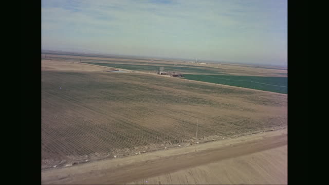 ws aerial pov view of agriculture field / united states - aircraft point of view stock videos & royalty-free footage