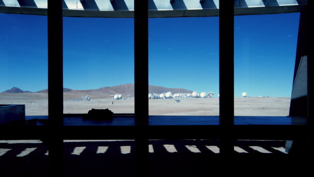 ms view of alma array from inside the array operations site / san pedro de atacama, chile - southern hemisphere stock videos & royalty-free footage