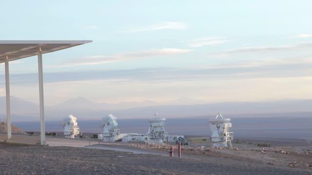 ws view of alma osf radio telescope / san pedro di attacama, attacama, chile - atacama large millimeter array stock videos and b-roll footage