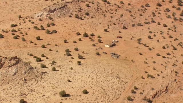 ws aerial view of alone home at arizona desert / arizona, united states - arizona stock videos & royalty-free footage