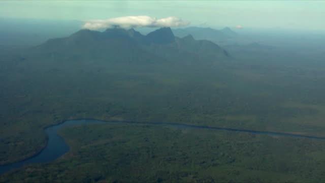 AERIAL view of Amazon river basin / Sao Gabriel da Cachoeira, Amazonas, Brazil