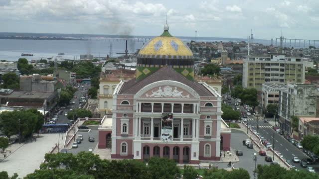 ws view of amazonas theatre / manaus, amazonas, brasil - manaus stock videos and b-roll footage