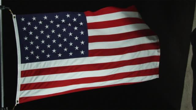 cu slo mo view of american flag / orem, utah, usa - orem utah stock videos & royalty-free footage