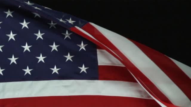 cu pan slo mo view of american flag / orem, utah, usa - orem utah stock videos & royalty-free footage